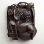 Ervin and Cornelius Holifield - Earthenware and graphite, 26x24x6in., 2009