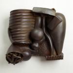 Thomas Evans - Earthenware graphite acrylic, wood 20x18x6in., 2009