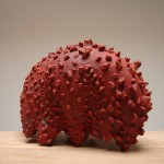 Worst Enemy - Earthenware, slip, oxide, 20x24x15in., 2006