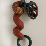 Blood Ties - Earthenware, slip, graphite,18x42x12in., 2006