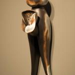 Domestic - Earthenware, graphite, acrylic 18x10x5in., 2010