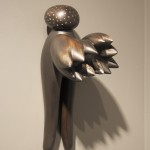 Pin Angel - Earthenware, graphite, acrylic 18x10x5in., 2010
