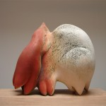 Two Birds Dancing - Earthenware, slip, oxide, 26x26x18in., 2006