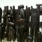 Ramshackle Fence (Detail) - Earthenware, graphite, acrylic, 2008-2012