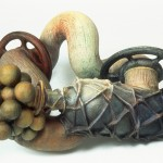 Cure in a Bottle - Painted clay, 15x36x30in., 1994