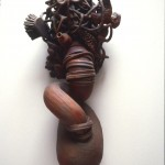 Still Processing - Painted earthenware, 50x18x110in., 1994