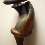 Rattle - Acrylic on earthenware, 48x10x8in., 2002
