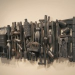 Ramshackle Fence - Earthenware, graphite, acrylic, 30x75x9in 2008-2012