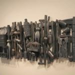 Ramshackle Fence - Earthenware, graphite, acrylic, 30x75x9in 2008-2012